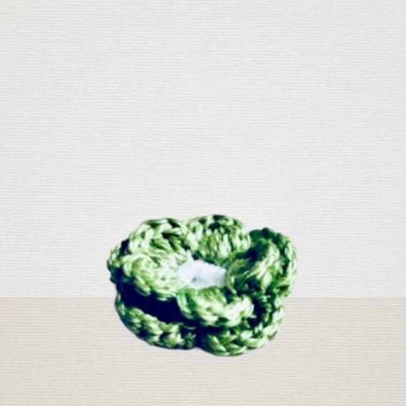 Minze Grüne Ansteckblume mit weisser Blüte