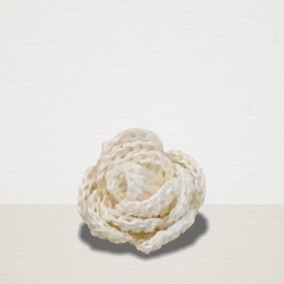Elfenbein Ansteckblume aus Leinen